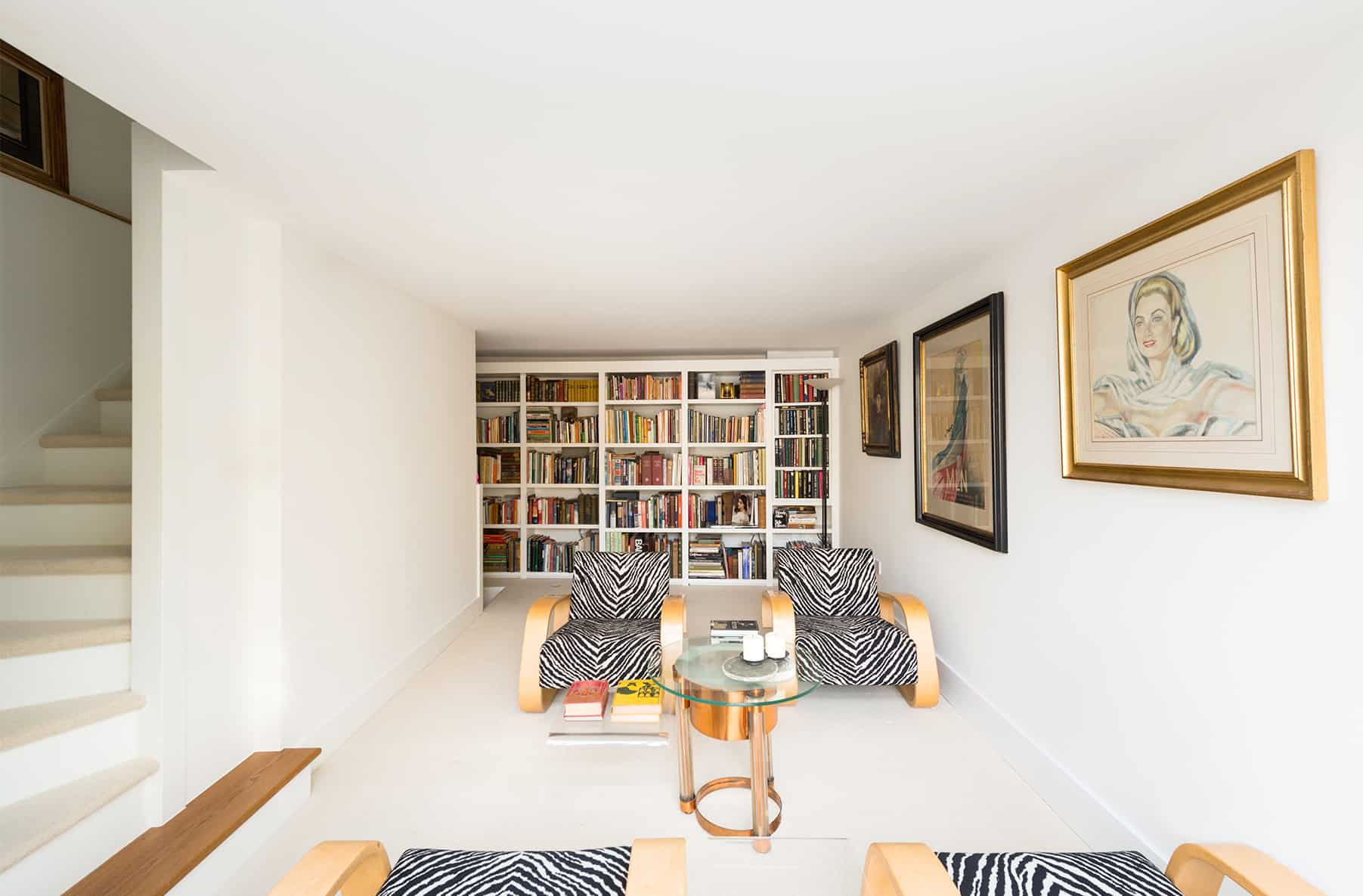 Open plan masculine reception room to Chiswick Bachelor house by misch_MISCH studio London