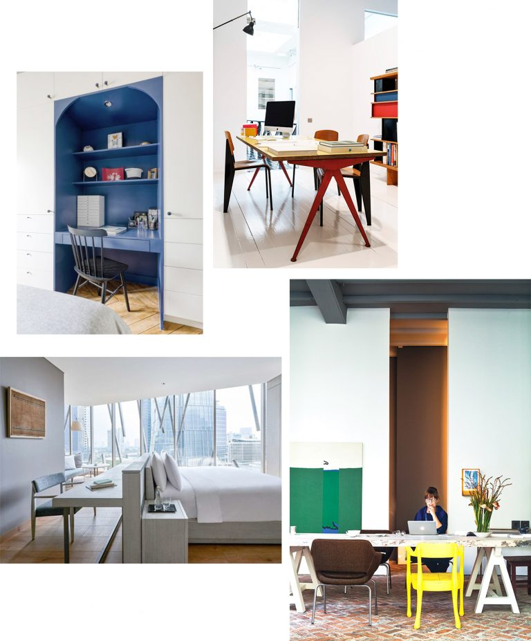 Range of desk spaces options if you don't have a full office room in your home and live in a small apartment or house