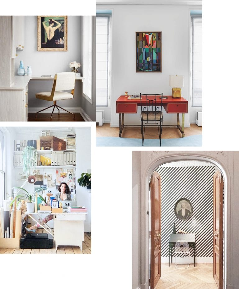 Working remotely from home desk fit for masculine and feminine interiors