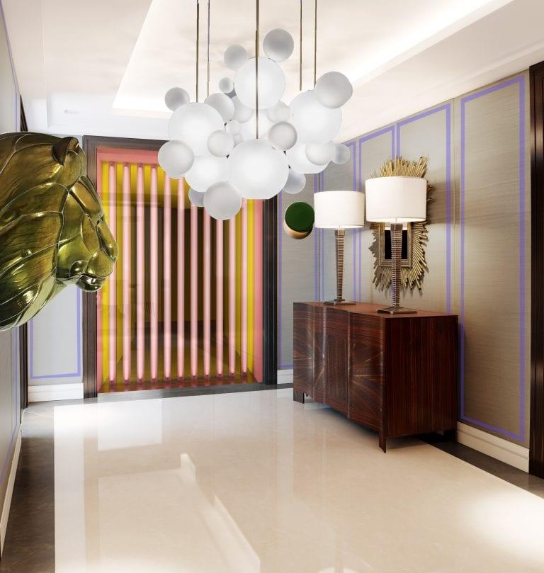 luxury bold hallway concept by misch_MISCH studio